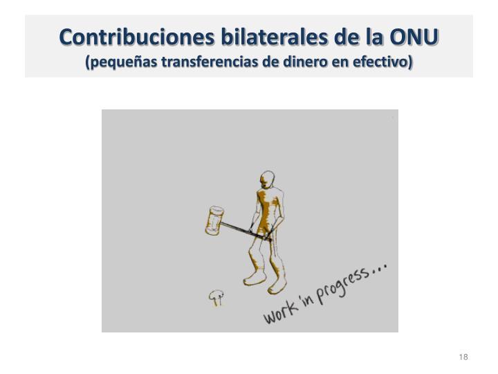 Contribuciones bilaterales de la ONU