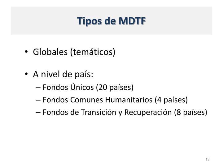 Tipos de MDTF