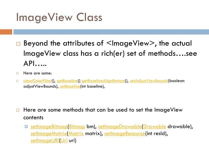 ImageView Class