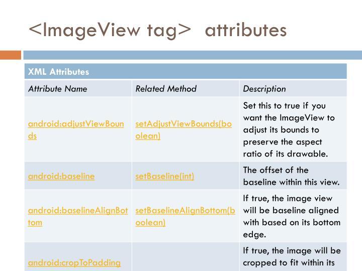 <ImageView tag>  attributes