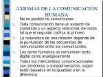 axiomas de la comunicaci n humana