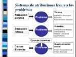 sistemas de atribuciones frente a los problemas