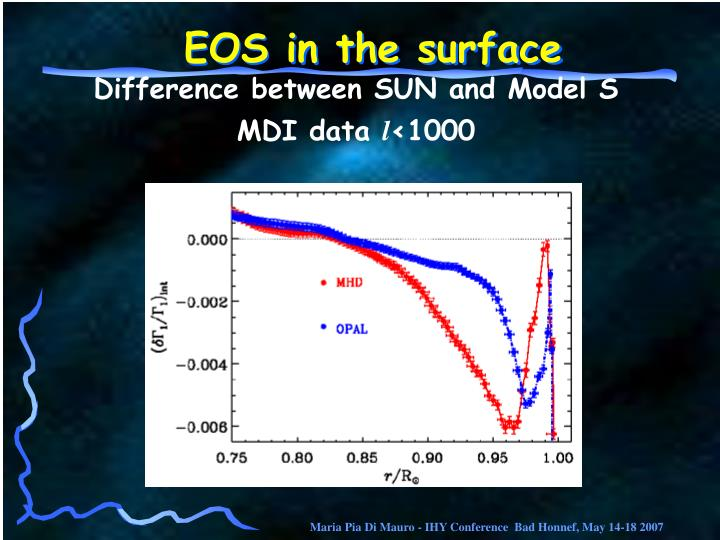 EOS in the surface