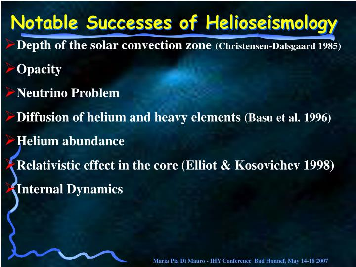 Notable Successes of Helioseismology