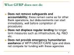 what gfrp does not do