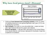 why have food prices risen demand