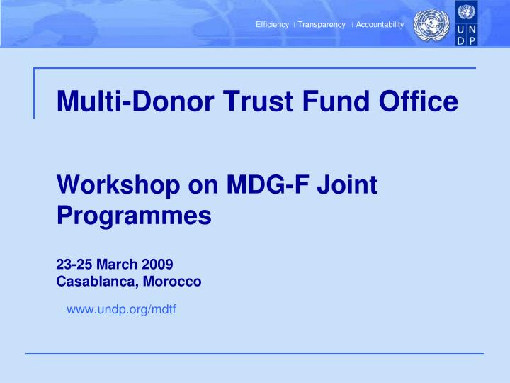 Multi-Donor Trust Fund Office
