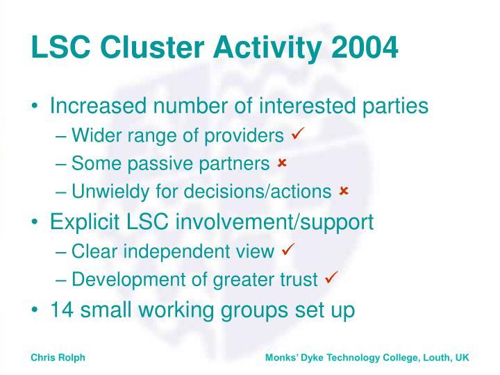 LSC Cluster Activity 2004