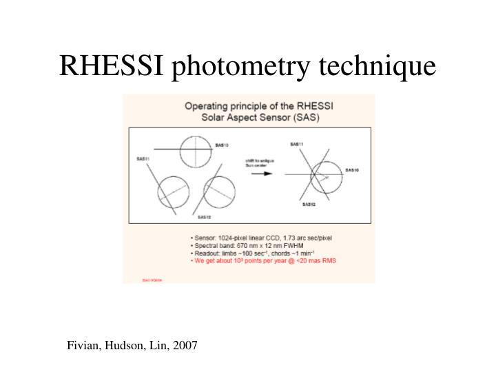 RHESSI photometry technique