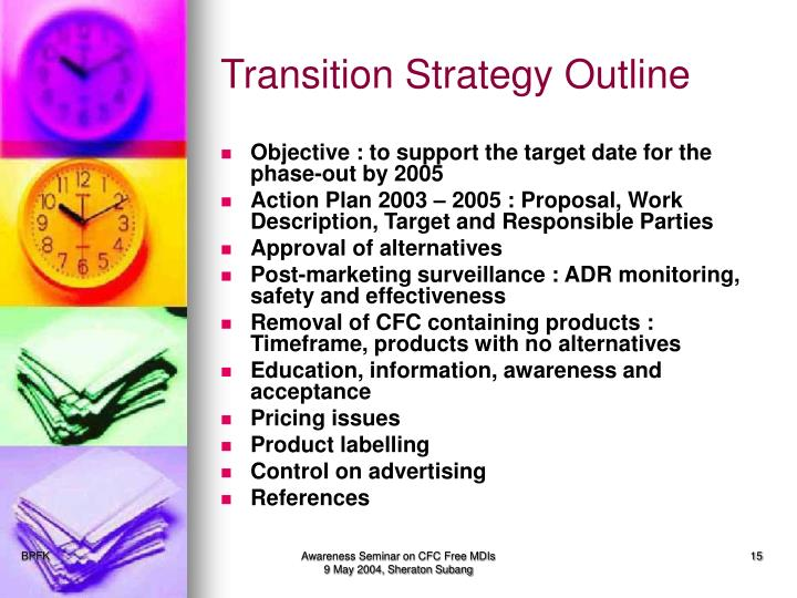 Transition Strategy Outline