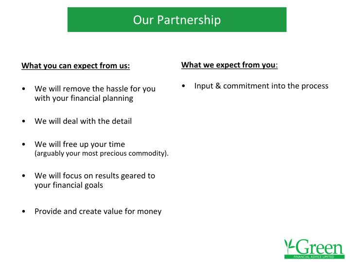 What you can expect from us: