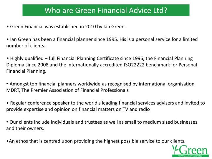 Who are green financial advice ltd