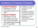 academic progress probation