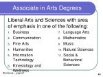 associate in arts degrees