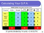calculating your g p a