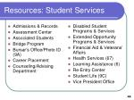 resources student services