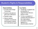 student s rights responsibilities