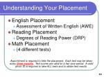 understanding your placement