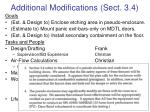additional modifications sect 3 4