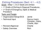 etching procedures sect 4 1 4 2