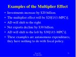 examples of the multiplier effect1