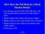 how does the fed rein in a stock market boom