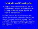 multiplier and crowding out1