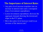 the importance of interest rates1