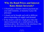 why do bond prices and interest rates relate inversely