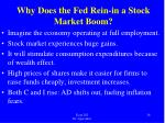 why does the fed rein in a stock market boom