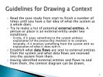 guidelines for drawing a context