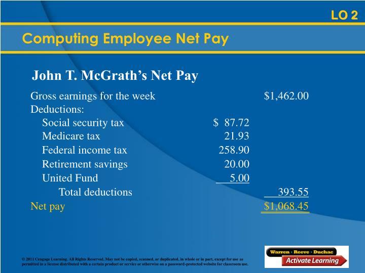 Computing Employee Net Pay