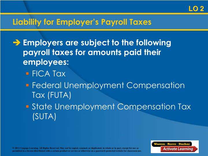 Liability for Employer's Payroll Taxes