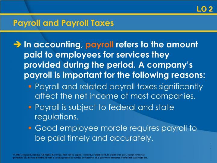 Payroll and Payroll Taxes