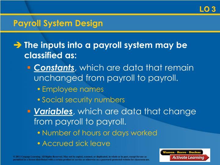 Payroll System Design