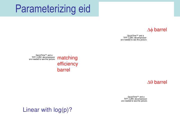 Parameterizing eid
