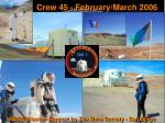 mdrs crew 45 1