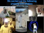 we carried out the following projects and studies eva sim lite