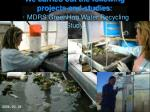 we carried out the following projects and studies mdrs greenhab water recycling study