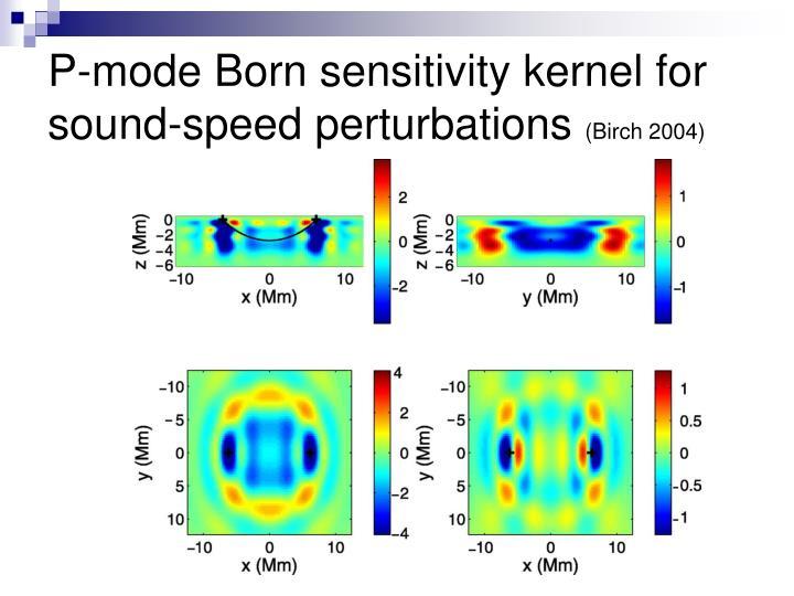 P-mode Born sensitivity kernel for sound-speed perturbations