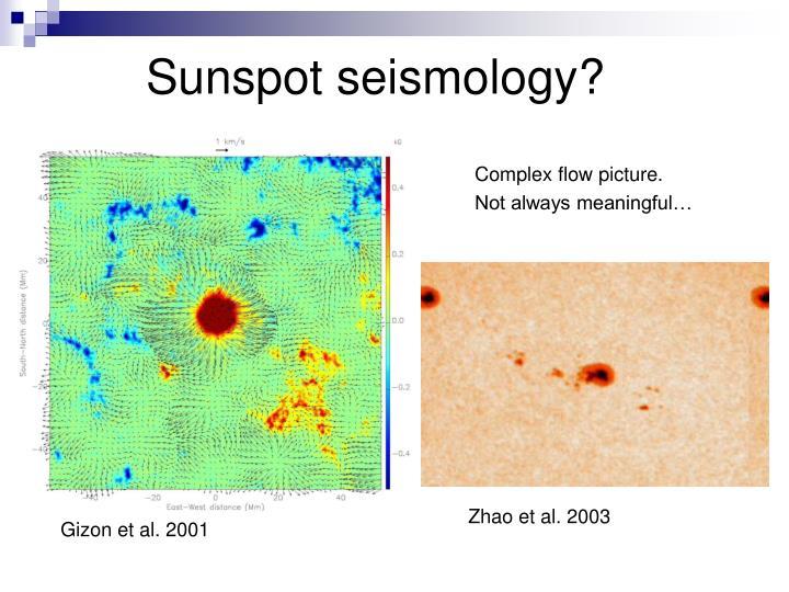 Sunspot seismology?