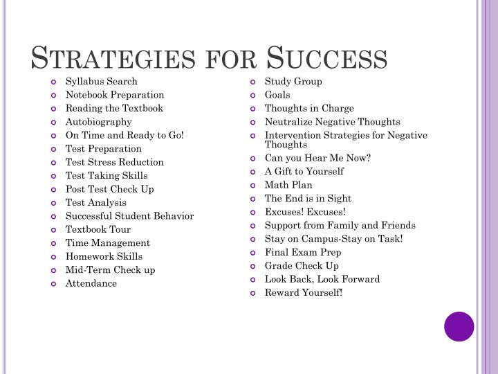 Strategies for Success
