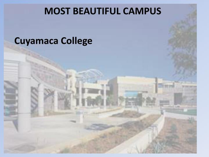 MOST BEAUTIFUL CAMPUS
