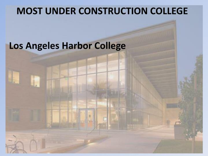 MOST UNDER CONSTRUCTION COLLEGE