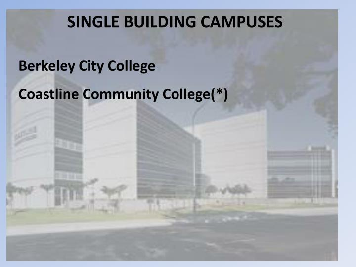 SINGLE BUILDING CAMPUSES