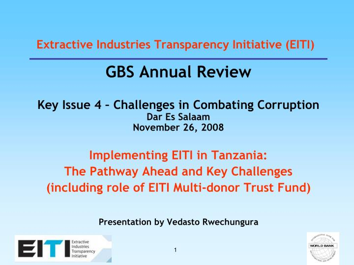 Extractive industries transparency initiative eiti