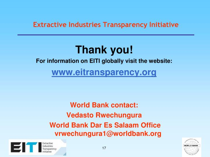 Extractive Industries Transparency Initiative