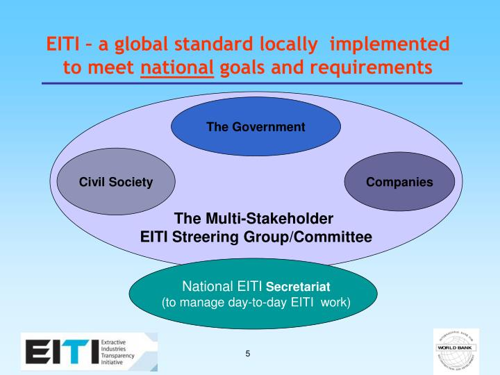 EITI – a global standard locally  implemented to meet