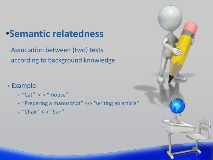 Semantic relatedness