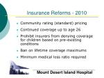 insurance reforms 2010